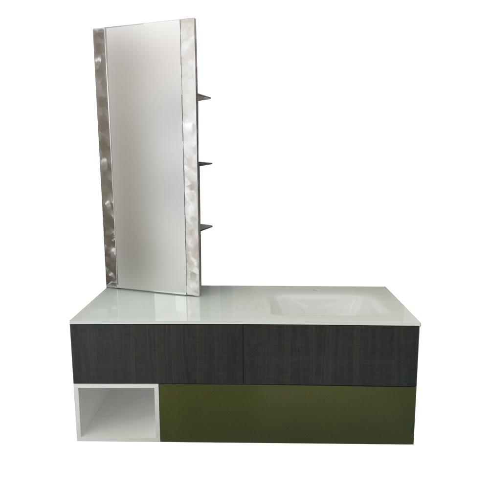 Mobile Specchio Da Bagno.Mobile Contenitore Da Bagno Con Lavabo E Specchio