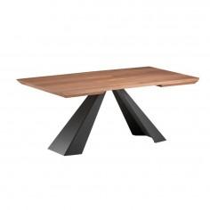 Tavolo allungabile in noce e acciaio Cattelan Elliot Wood